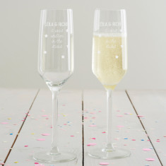 Personalised Written In The Stars Champagne Flute Set