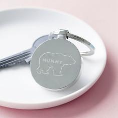 Personalised Mummy Bear Key Ring