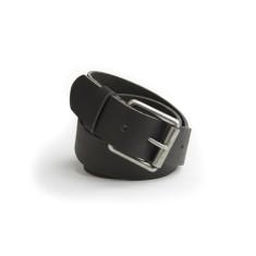 B40 leather belt in steele black