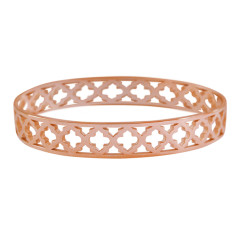 Moroccan bangle in rose gold plate