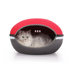 Designer Pet Pod Bed for Cats & Small Dogs - Red