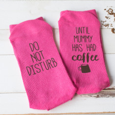Personalised Do Not Disturb Coffee Socks