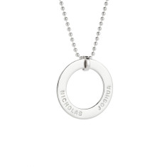 Audrey personalised sterling silver pendant