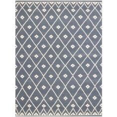 Indigo handmade flat weave rug