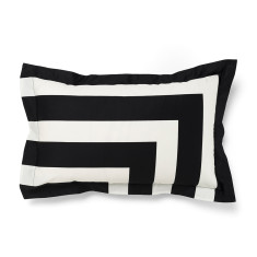 Corner stripe black standard pillowcase (each)