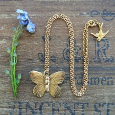 Aurelia gold butterfly necklace