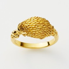 Echidna ring in gold or rose gold plate