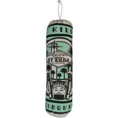 Retro St Kilda Luna Park plastic bag bag in turquoise
