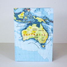 Australia map notebook