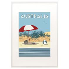 Australia beach print