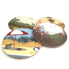 Australian coasters (set of 4)