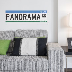 Personalised Australian street sign wall stickers