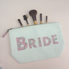 Liberty Print Bride's Zip Pouch Clutch