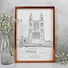 Personalised Wedding Venue Illustrations