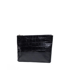 Avalon leather clutch bag