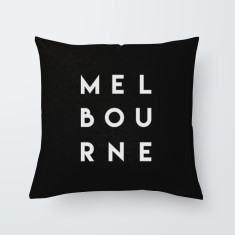Melbourne Quote Throw Pillow
