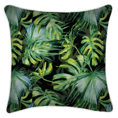 Outdoor Cushion Cover-Botanical Black (various sizes)