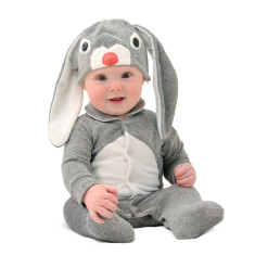 Lil' grey bunny baby & toddler costume with hat
