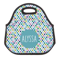 Personalised Neoprene Lunch Bag - Spotty