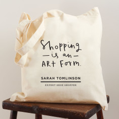 Personalised shopping art form bag