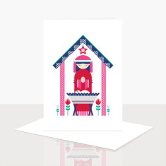 Away in a manger greeting card (box of 8)