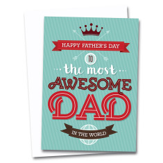 Awesome dad Father's Day card