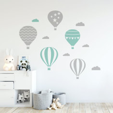 Air Balloons Wall Decal