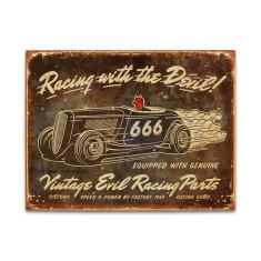 Vintage Evil Racing Sign