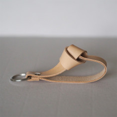 Knot Leather Key Strap In Nature