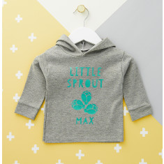 First Christmas Little Sprout Baby Hoodie
