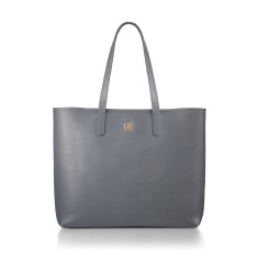 Hampton Charcoal Grey Nappa Leather Tote