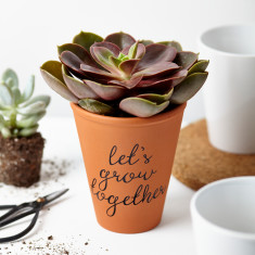 Let's Grow Together Plant Pot