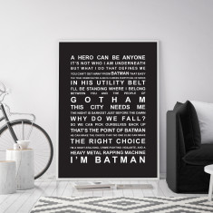 Batman Movie Quotes Wall Art Print