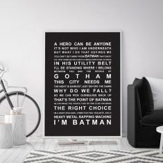 Batman Movie Quotes Wall Art Print