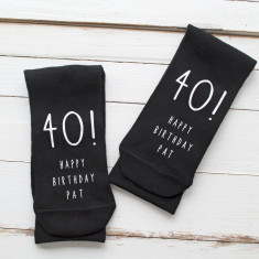 Personalised Monochrome Birthday Socks