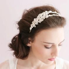 Double pearl headband