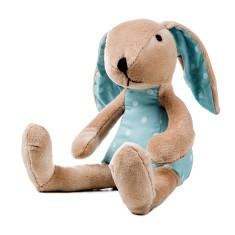 Blue spot poplin bunny