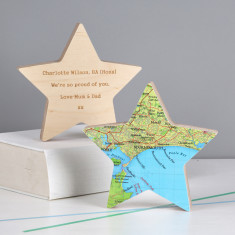 Personalised graduation star keepsake