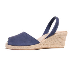 Dorata nubuck leather sandals in navy