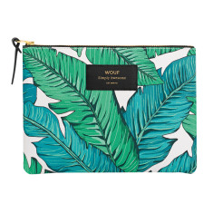 Wouf large pouch in tropical print