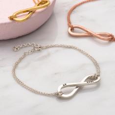 Personalised Infinity Ties Bracelet