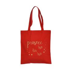 Prosecc Ho Ho Ho Gold Glitter Tote Bag