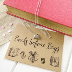 Books before boys necklace