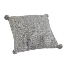 Pom Pom Cushion - Storm (charcoal)