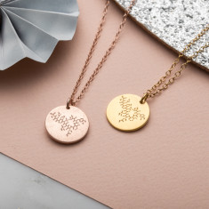 Personalised Family Molecule Necklace