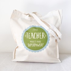 Teacher superpowers tote bag