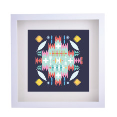 Aztec blue framed print