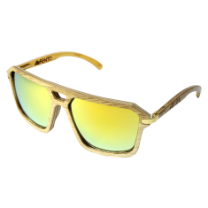 Fento wooden sunglasses in Legend Ash Yellow