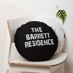 Personalised Round Residence Cushion