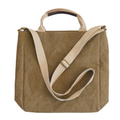 Cross body tote in olive green